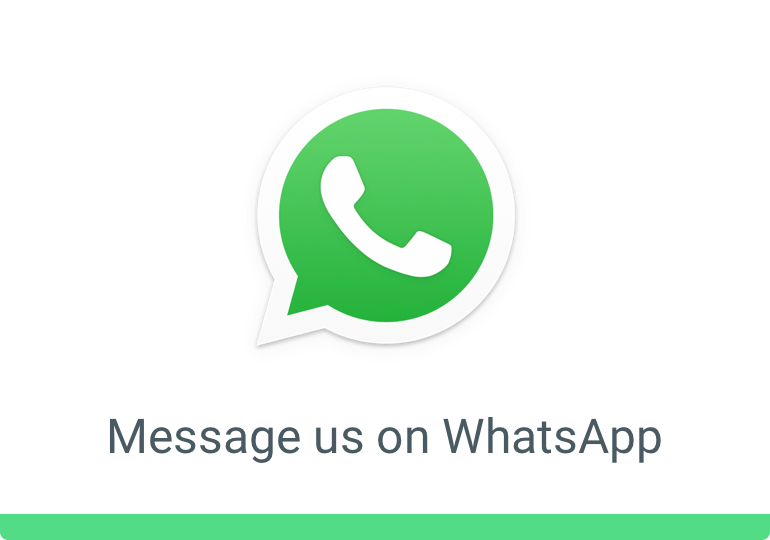 Message us on Whatsapp!